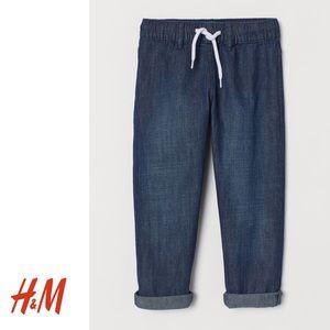 NWT H&M Boys Denim Joggers 3-4Y